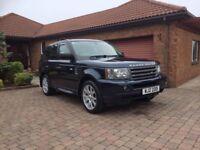 2008 Range Rover Sport, 12 Mths MOT, Full Service History, 2 Keys, Full Black Leather