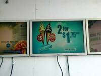 Digital menu board screens, digital signage for restaurant takeaway shop