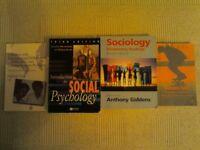 Bundle of Sociology and Social Psychology textbooks.