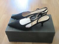 Brand NEW Hobbs Fine Black Suede Slingbacks - UK Size 3.5/EUR Size 36
