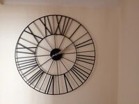 Large Metal Wall Clock