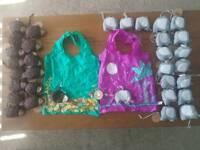 Folding fun shopping bags job lot