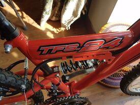 2 boys bike for sale , red n blue mountain bike
