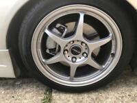 """17"""" buddy club p1 alloy wheels off Lexus is200"""