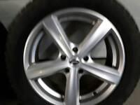 Alloy wheels c/w winter tyres.