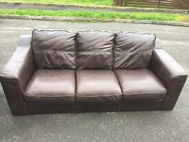 3 seater leather sofa from next