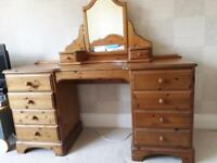 Ducal dressing table + mirror