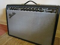 Fender 1965 Deluxe Reverb reissue amplifier.