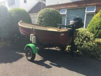 Dinghy with Outboard and Trailer