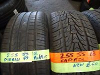 selection of 255 55 18 and 265 60 18 tyres tread as new most sizes in stock (loads more av) 7-dys