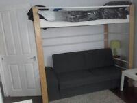 Ikea loft bed wood and metal