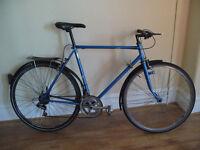 """Abbey hybrid tourer vintage steel bike 22"""" frame"""