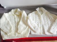 Cream knitted cardigan's **brand new**