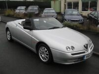 00-V ALFA SPIDER 2.0 LUSSO 86K SERVICE HISTORY HPI CLEAR