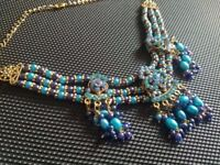 Gorgeous Purple and Blue Necklace and Earrings Set