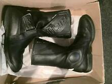 Italian Leather Motorcycle boots - EUR 43 Butler Wanneroo Area Preview