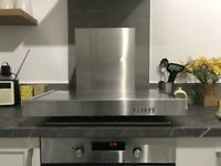 Ducted chrome cooker hood