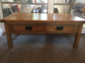 Oak Furniture Land Rustic Oak Coffee Table