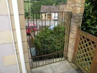 Heavy Duty Wrought Iron garden gate. 1.7m x 1.20m including hinges and catch.