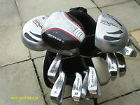 MENS RIGHT HAND GOLF CLUBS FULL SET IN STAND BAG