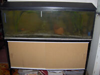 Aquarium Fish Tank with Stand and Built-in Cupboard 4ft x 18inch x 12inch