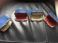 4 handmade denim purses