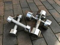 Set of 4kg and 2kg dumbbells
