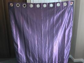 1 pair of purple curtains