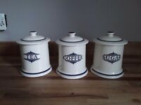 1869 victorian pottery tea coffee sugar pots