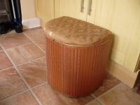 Linen Basket 1950's, requires restoration by arty/crafty person!