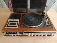 Panasonic Retro Teak Hi-fi system Turntable