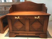 Solid Wood Hand Carved Storage Unit