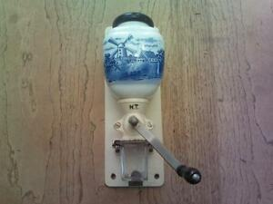 delft blue wall mount coffee grinder