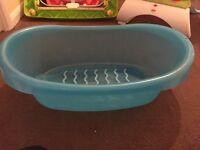 Blue bath tub