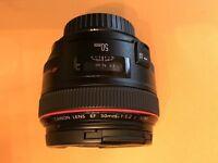Canon EF 50mm f/1.2L USM L-Series Prime Lens