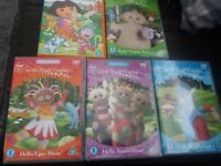 4 in the night garden dvds plus a dora the explorer dvd
