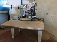 Radial arm saw (crosscut)