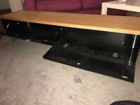 Stylish black and beech tv unit