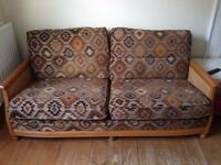 Ercol 3 seat sofa and armchair