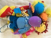 Tweenies soft doll toys.