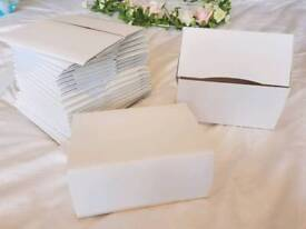 Wedding cake boxes, card food boxes