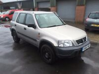 HONDA CR-V 2.0 R REG FINISHED IN SILVER WITH GREY TRIM AND MOT JAN 2017 118,400 MILES WITH HISTORY