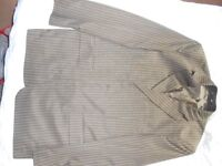 Muga 3 Piece Suit (Brown / Pinstripe)