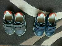 Clarks boys shoes size 4f and 4.5f