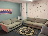 Light Grey Sofas read description 🚛 sofa suite couch furniture