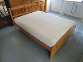 Pine Double Bed with Mattress