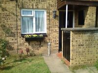 Unfurnished ground floor one bedroom flat with garden, conservatory and parking