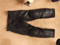 Dainese Pony touring leather motorcycle trousers size 52 black excellent cond