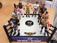 WWE Wrestling Ring With 10 Figures