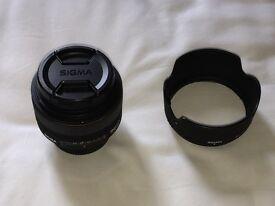Sigma 30mm F1.4 Nikon fit prime lens